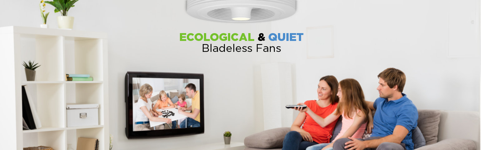 Bladeless fan ecological and quiet
