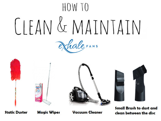 how to clean an exhale fan